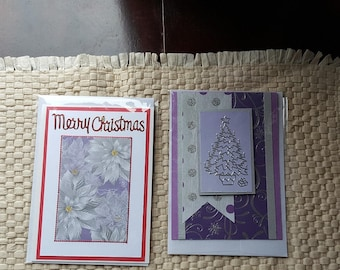 Handmade Christmas cards , festive season cards, personalized Christmas card