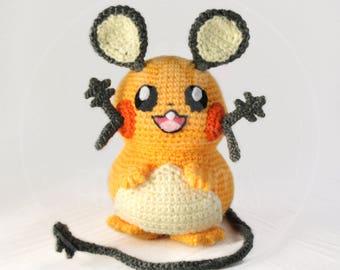 Dedenne - Pokemon - 16 cm (6 inches) amigurumi