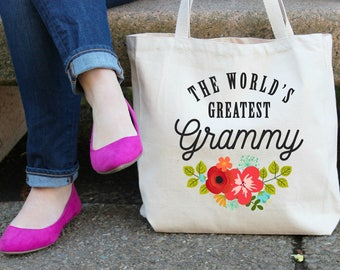 The World's Greatest Grammy Canvas Tote Bag