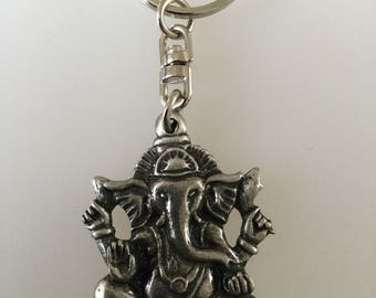 Ganesh Chaturthi Pewter Keyring Handmade In UK