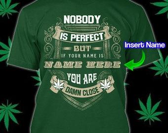 Personalized Marihuana T-Shirt Cannabis Sativa Shirt Rasta Hemp Ganja Custom Print Crew Neck Rastafari Leaf Weed