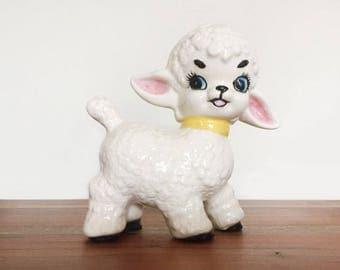 Vintage Ceramic Lamb - Gender Neutral Nursery Decor