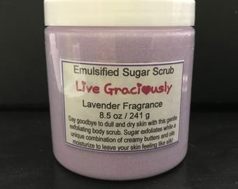 Lavender Emulsified Sugar Scrub - purple sugar scrub