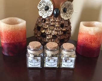 Organic dried flowers collection, 1 jar or set of 3 jars, your choice. 1.4 oz jars. Ritual herbs.