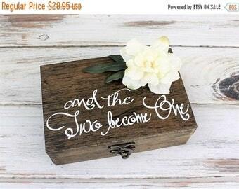 SALE Rustic Ring Bearer Box - Wedding Ring Holder - Ring Bearer Pillow - Rustic Wedding - Sunflower - Ring Box - Custom Wood Box - Barn Wedd