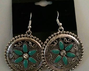 New Owl and Turquoise Earrings