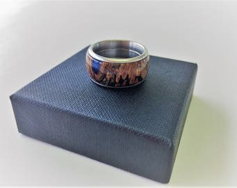 Wood ring stainless steel