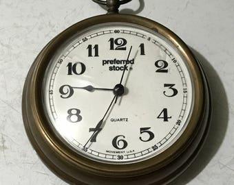 Brass Quartz Clock