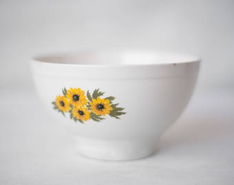 Bowl ceramic - Cesol brand - Made in Portugal - flowers - porcelain - mid century sunflower Bowl - vintage
