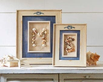 Framed shell initials