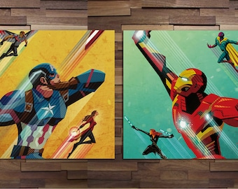 The Avengers - Set of 2 Posters - Canvas