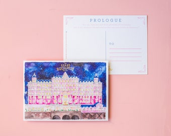 The Grand Budapest Hotel, Watercolor Postcard (Prologue) - Movie by Wes Anderson