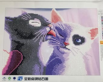 DIY 5D Diamond Embroidery Painting Cats Lover Crafts Home Decor 、Finished 、Living Room、Bedroom、Gift