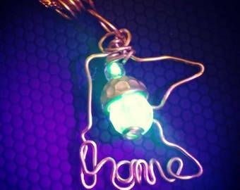 Uranium love from Minnesota Necklace