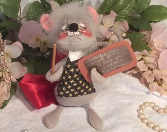 "Annalee Doll, ""Teacher Mouse"""