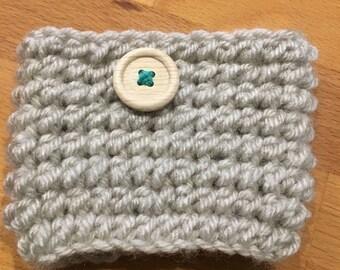 Crochet Mug Cozy with Button
