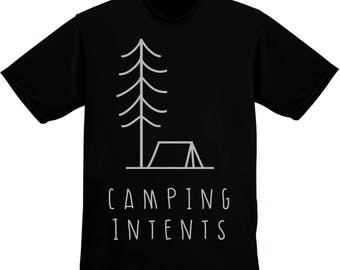 Camping Intents - Forest And Tent Drawing Men's T-shirt