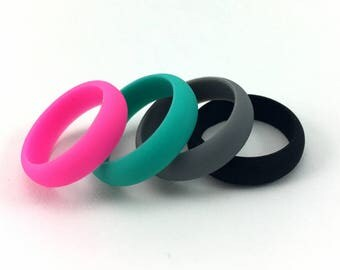 Silicone Fidget Ring / Soft Bendable Rubber Ring / Stretchy Stim Ring / Alternative Wedding Band