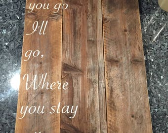 Handmade Rustic Wooden Sign