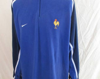 Rare vintage rugby sweater Team France 80s Nike Blue Size XXL
