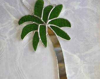 Stained Glass Palm Tree