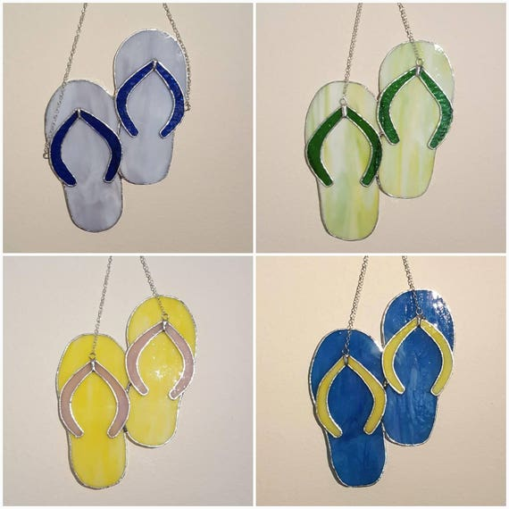 Stained Glass Flipflops