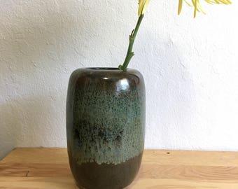 Metalic green vase