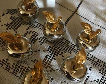 Apple Placecard Holders. Table number holders. Apple Placecards. Wedding tableware