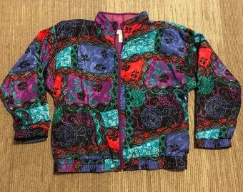 Vintage 90s Crazy Patch Windbreaker