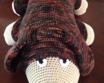 Crochet dog pillow, dog pillow friend, handmade pillow