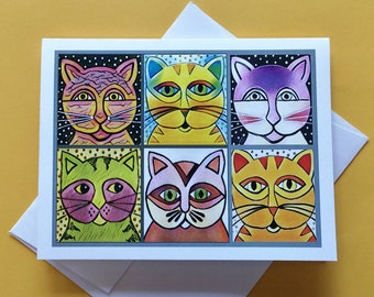 Cat Lover Card, Cat Greeting Card, Card for Cat Lovers, Cat Card for Friend, Just Because Card, Cat Card, Card for Cat Lover Friend