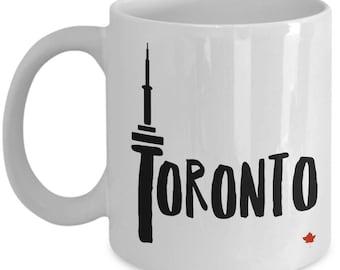 Toronto CN Tower Mug/ Toronto souvenir mug/ Maple leaf/ Canada/ CN Tower/