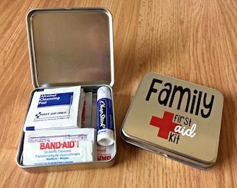 Mini First Aid Tin, Family First Aid