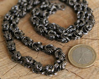 Chunky Statement Halskette Chainmaille Byzantine