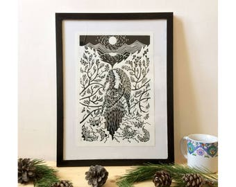 """Engraving - """"fear Nocturne"""" - limited edition"""