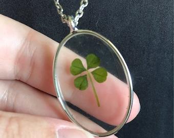 Dainty four leaf clover necklace