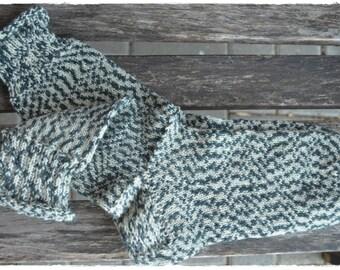 Mosaic socks  women's size UK 5-5,5, US 7-7,5, hand knit