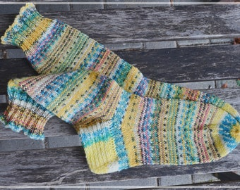 Handknitted socks, size women size UK 3-4 / US 6-6,5, HappyScrappyStyle