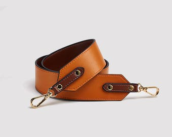 brown Genuine leather Purse Strap Replacement Handle Chain Real leather bag hadnbag Shoulder bag Strap High Quality black red blue 98*4.6 cm
