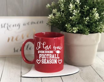 Love Football Season Mug, Coffee Mug, Football Mug