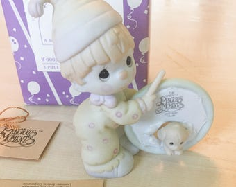 Vintage Precious Moments 1990 Symbol Of Membership Our Club Is A Tough Act To Follow Figurine B-0005