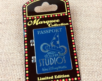 Disney Pin Marquee Hinged Passport Hollywood Studios Walt Disney World Donald Duck Limited Edition