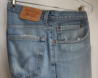 "Levi's 559 34"" x 32""  light wash cotton denim 19.67 Summer of Love 50th Anniversary Sale"