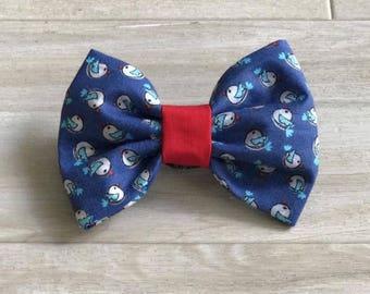 Blue Birdie Dog Bow Tie l Pet Bow Tie l Cat Bow Tie