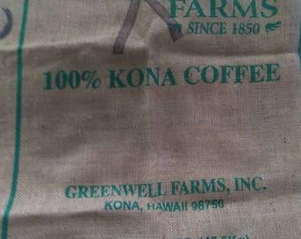 100% Kona Coffee Bean Bag