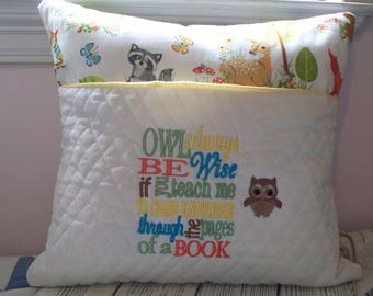 Owl Always Be Wise Reading Pillow