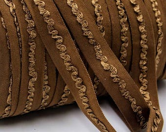 Brown Elastic Ribbon, Elastic, Elastic By The Yard, Brown Elastic, Ribbon, Ribbon By Yard, 5/8 Inch, 15mm, FOE, Headband Ribbon, Hair Ties
