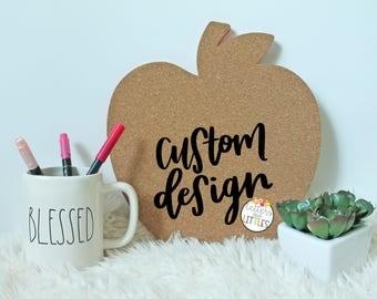 Apple Cork Board, Custom Cork Board