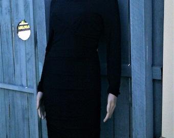 WITCHERY Vintage 40's look black dress