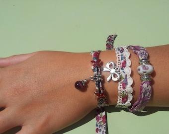 Set of Liberty fabric bracelets